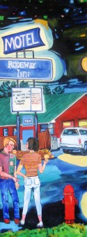 "Livingston Motel Series front, 66"" x 24"""