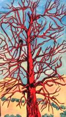 Dead Red Tree 24 x 14