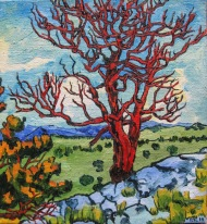 Red Tree #2 14 x 16