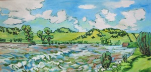 Yellowstone River1 24 x 48