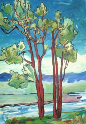 "Cottonwood #165, 20 x 14"", $840"