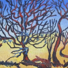"""Dead Tree Study #3, 6 x 8"""", $145"""