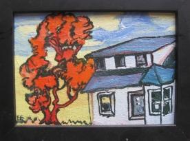 """House Study, framed, 6 x 8"""", $145"""