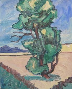 "Pale Tree Study, 10 x 8"", $170"