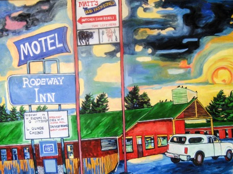 "Livingston Motel Series Matt's, 48"" x 66"""