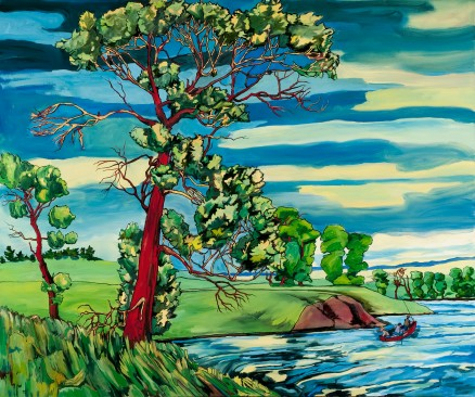 "Cottonwood #173 on River, 2011, 60"" x 72"""