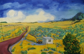 "Swingley Route, 42"" x 66"""