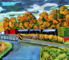 TrainCrossingTwo24x28